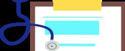checklist en stethoscoop